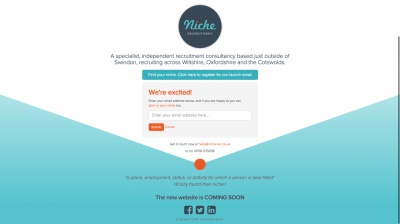 Niche Recruitment Website Design and Landing Page