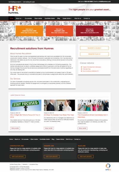 Humres Recruitment Website Design and Development