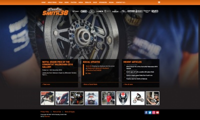 Bradley Smith Revamped Website Design