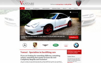 Vantari Cars Website Design and Development