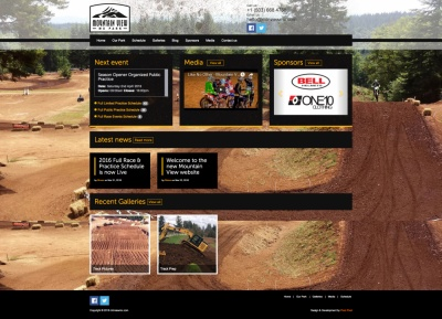 Web design for Mountain View MX Park