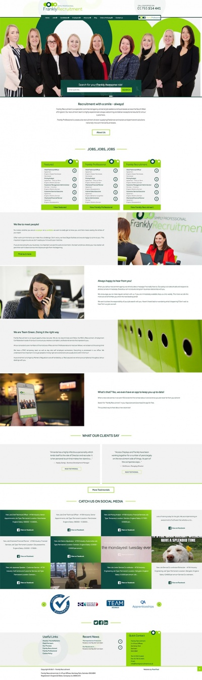 Frankly Recruitment Website Design & Development