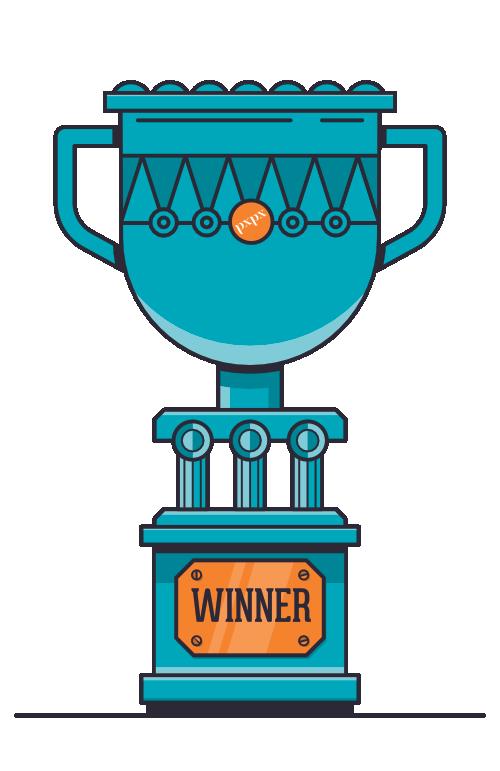 Pixel Pixel prize trophy