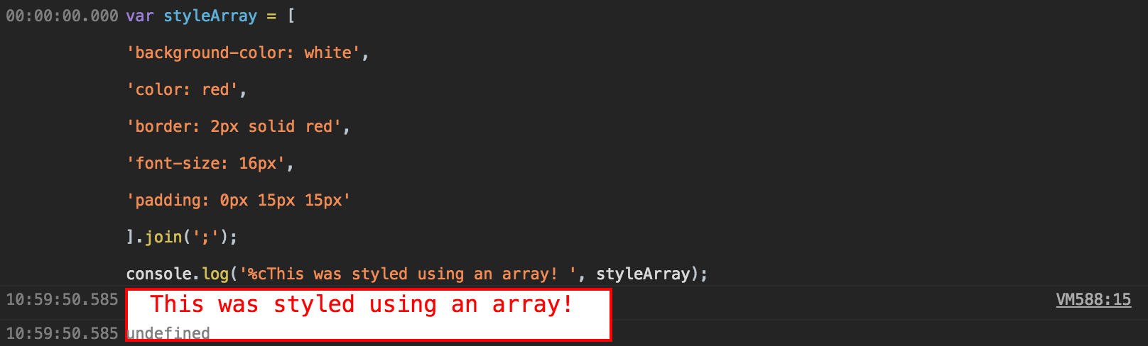 Using a style array