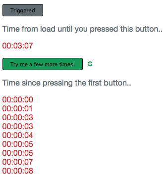 User Timing button example